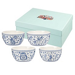 Queens - Set of four multicoloured 'Penzance' small bowls