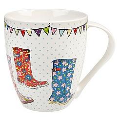 Queens - White 'Wellies' mug