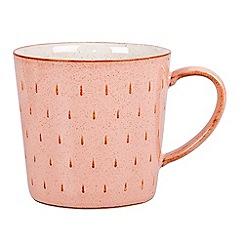 Denby - Pale pink 'Piazza' cascade mug