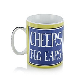 Ben de Lisi Home - Designer porcelain 'Cheers big ears' giant mug