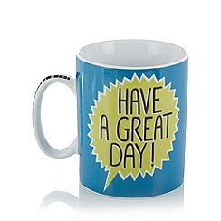 Ben de Lisi Home - Designer porcelain 'Have a great day!' giant mug