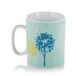 Ben de Lisi Home - Designer porcelain painted trees giant mug