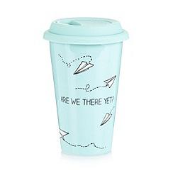 Ben de Lisi Home - Designer porcelain paper planes travel mug