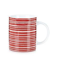 Home Collection Basics - Red striped porcelain mug