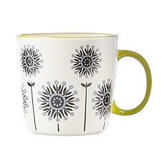 Debenhams - Stoneware lime large floral mug