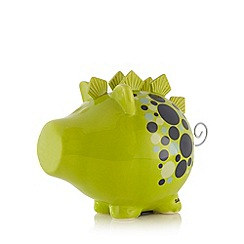 Salt & Pepper - Ceramic green dinosaur money box