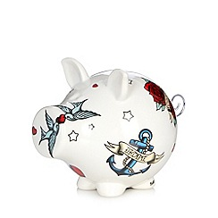 Salt & Pepper - Ceramic tattoo pig money box