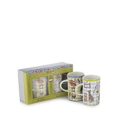 At home with Ashley Thomas - Set of two fine china pet shop mugs