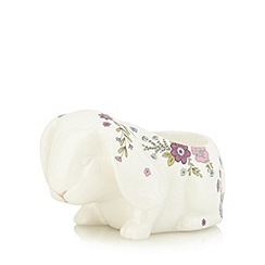 At home with Ashley Thomas - Bunny floral print egg cup