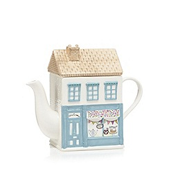 At home with Ashley Thomas - Ceramic house teapot