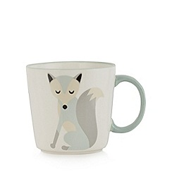 Debenhams - Light blue fox mug