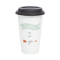 Debenhams - Porcelain 'Coffee to go' travel mug
