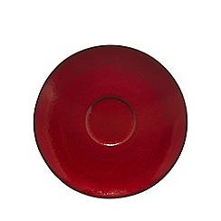 RJR.John Rocha - Red glazed 'Pico' tea saucer