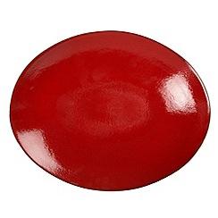 RJR.John Rocha - Red 'Pico' glazed oval platter