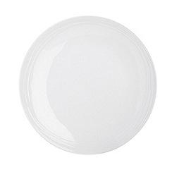 RJR.John Rocha - White 'Etch' dinner plate