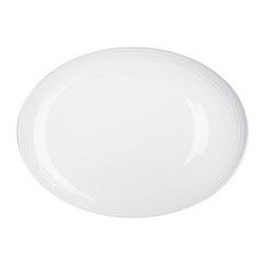 RJR.John Rocha - White 'Etch' oval platter