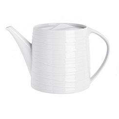 RJR.John Rocha - White 'Etch' teapot