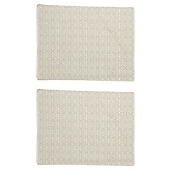 RJR.John Rocha - Pack of 2 cream broderie placemats