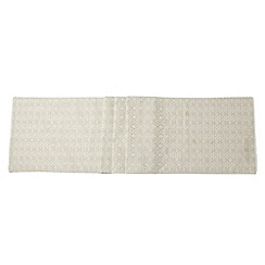 RJR.John Rocha - Designer cream broderie table runner