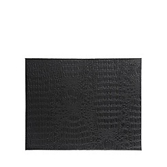 RJR.John Rocha - Designer set of four black mock croc place mats