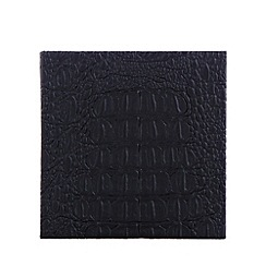 RJR.John Rocha - Designer set of four black mock croc coasters