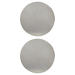 RJR.John Rocha - Designer pack of two silver hammered placemats