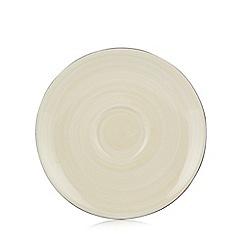 RJR.John Rocha - Designer stoneware cream 'Lunar' tea saucer