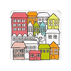 Ben de Lisi Home - Designer set of four white house print coasters