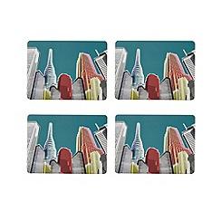 Ben de Lisi Home - Set of four designer skyline printed placemats
