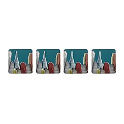 Ben de Lisi Home - Set of four designer skyline printed coasters