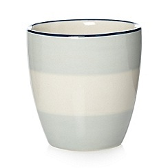 J by Jasper Conran - Designer pale blue striped stoneware egg cups