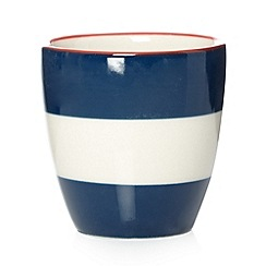 J by Jasper Conran - Designer navy striped stoneware egg cup