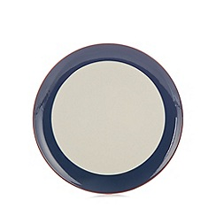 J by Jasper Conran - Designer navy striped stoneware dinner plate