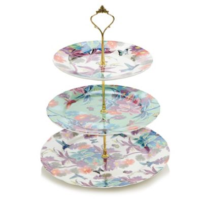 Butterfly Home by Matthew Williamson Designer fine china hummingbird three tiered cake stand - . -