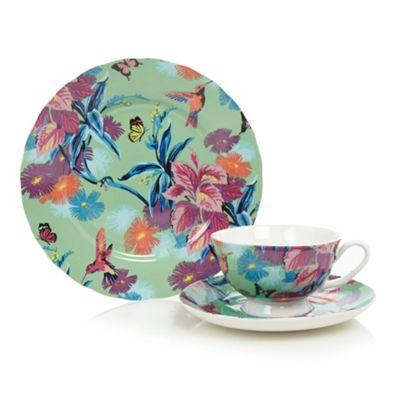 Butterfly Home by Matthew Williamson Designer fine china green hummingbird tea set - . -