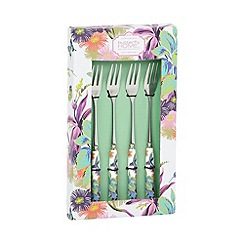 Butterfly Home by Matthew Williamson - Designer set of four stainless steel dessert forks