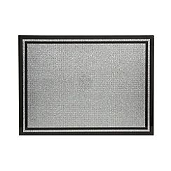 Star by Julien MacDonald - Large designer black glass glitter grid placemat