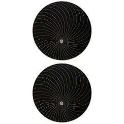 Star by Julien Macdonald - Set of two designer glass glitter swirl placemats