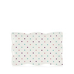 At home with Ashley Thomas - Porcelain spotty sandwich tray