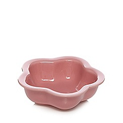 At home with Ashley Thomas - Stoneware pink flower nibble bowl