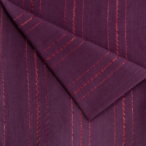 Debenhams - Set of two purple metallic napkins