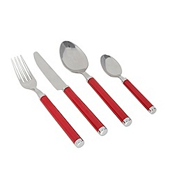 Home Collection Basics - Red 16 piece cutlery set