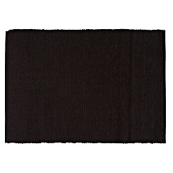 Home Collection Basics - Set of four black cloth placemats