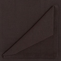 Home Collection Basics - Set of four black cotton napkins