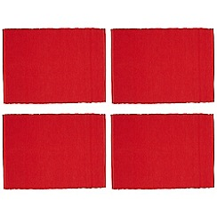Home Collection Basics - Set of four red cloth placemats