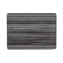 Home Collection Basics - Set of four black jagged stripe placemats