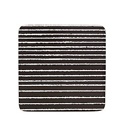 Home Collection Basics - Set of four black jagged stripe coasters