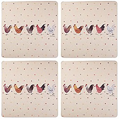 Queens - Pack of 4 'Rooster' placemats