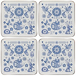 Queens - Set of four cork 'Penzance' coasters