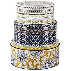 Denby - Set of three 'Monsoon Cordoba' cake tins